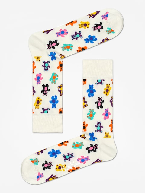 Happy Socks Teddybear Socks (off white/multi)