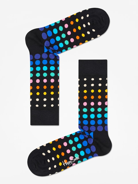 Happy Socks Faded Disco Dot Socks (black/multi)