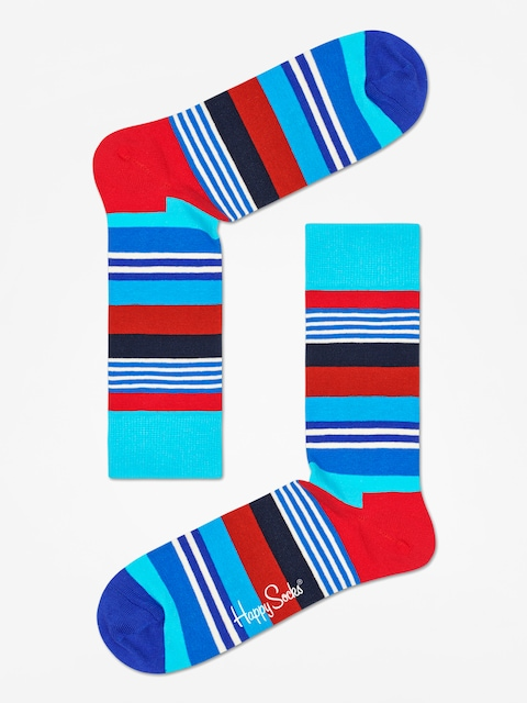 Happy Socks Multi Stripe Socks (blue/black/red)