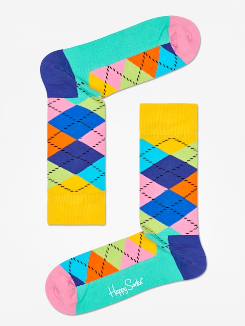 Happy Socks Argyle Socks (yellow/blue/green)