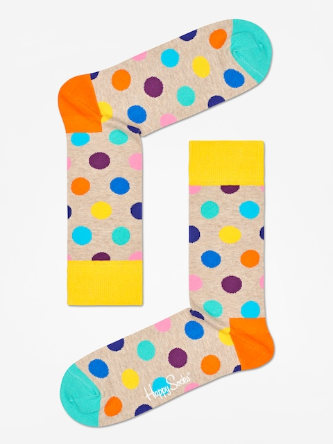 Happy Socks Big Dot Socks (sand/multi)