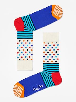 Happy Socks Stripe And Dots Socks (off white/blue/multi)