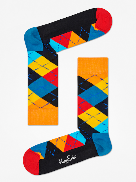 Happy Socks Argyle Socks (orange/black/multi)
