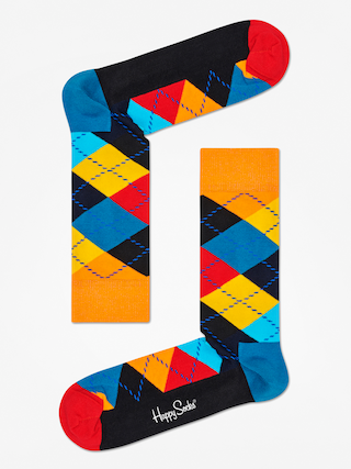 Happy Socks Argyle Socks (orange/black/multi)