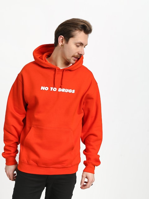 DGK No To Drugs HD Hoodie (orange)