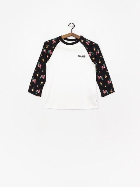Vans Satin Floral Raglan T-shirt Wmn (black/satin florral)