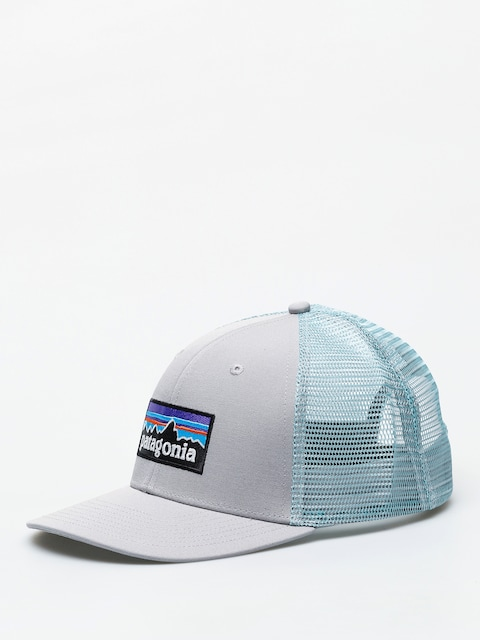 Patagonia P 6 Logo Trucker ZD Cap (drifter grey w/dam blue)