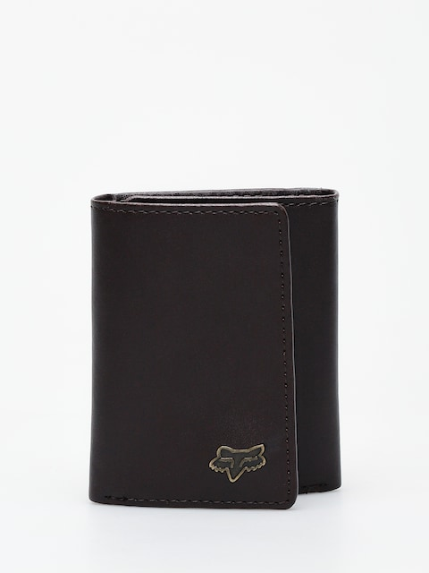 Fox Trifold Leather Wallet (brn)
