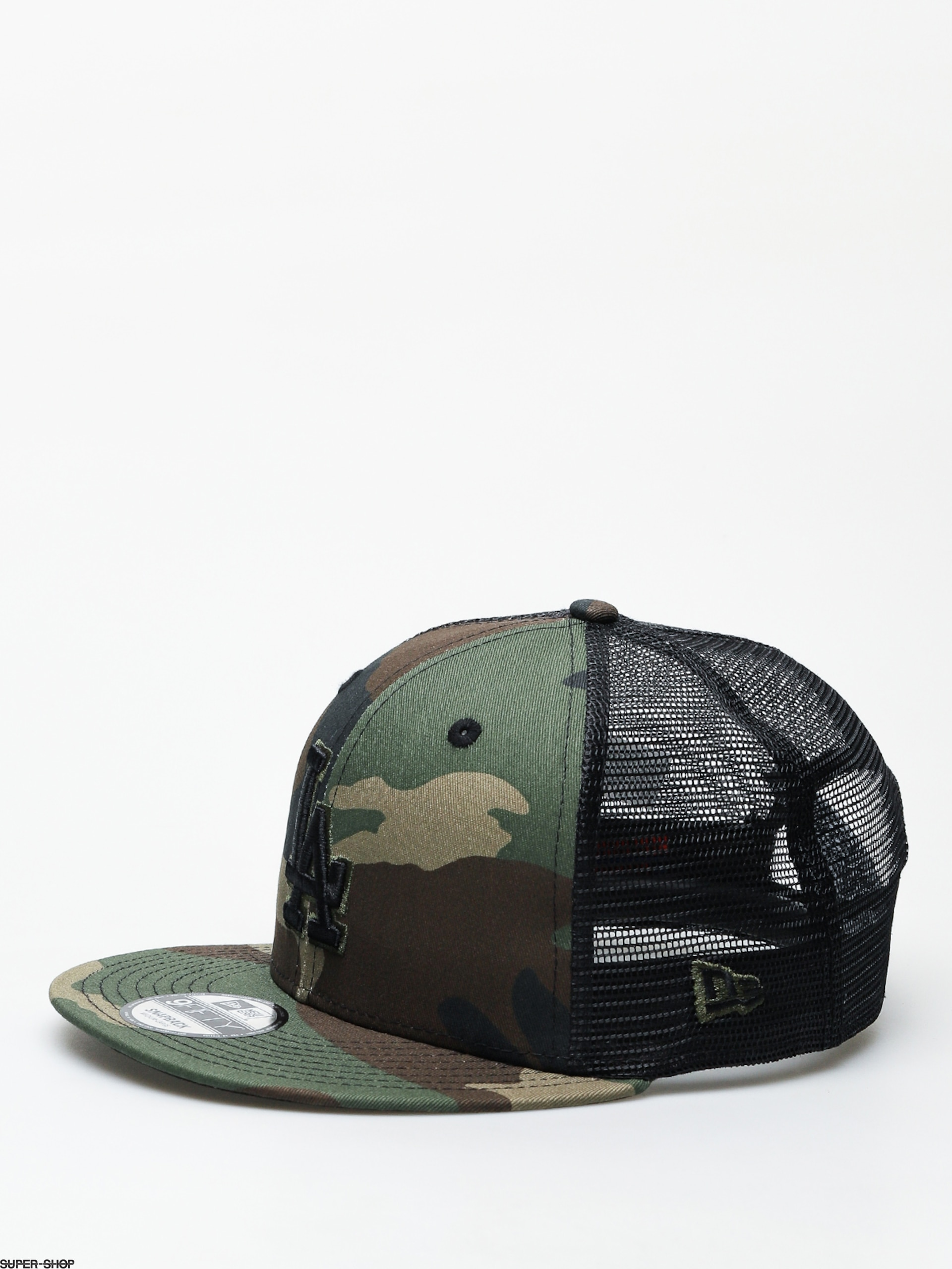 13774ddb1 New Era League Essential Team Trucker Los Angeles Dodgers ZD Cap (woodland  camo/black)