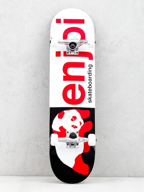 Enjoi Half And Half Skateboard (black/red)