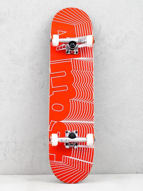 Almost Unknown Pleasures Skateboard (red)