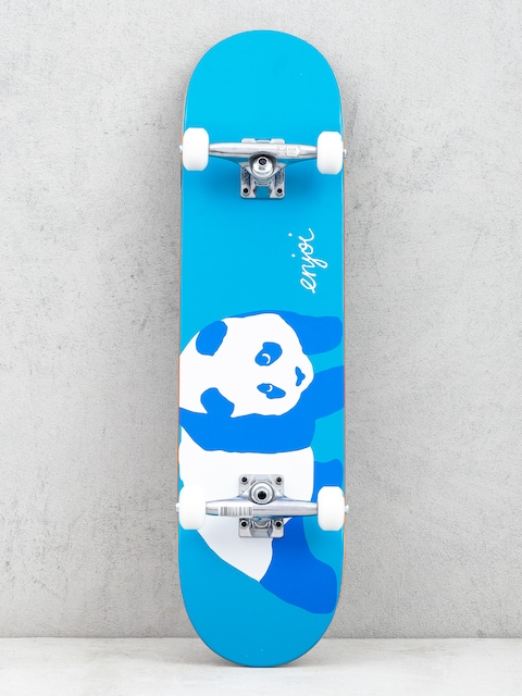 Enjoi Blue Panda Resin Skateboard (neon blue)