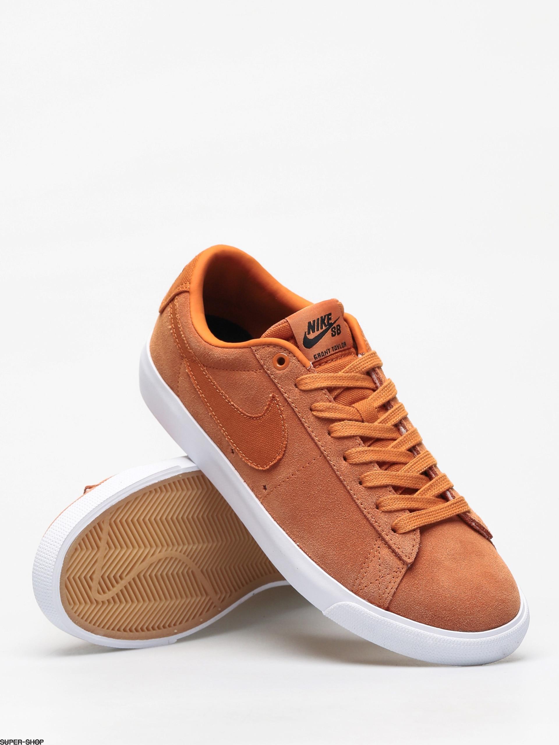 Nike SB Blazer Low Gt Shoes (cinder orange/cinder orange obsidian)
