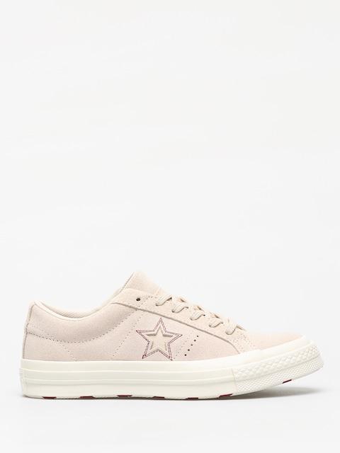 Converse One Star Ox Chucks (egret/egret/rhubarb)