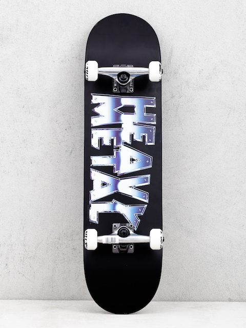 Darkstar Heavy Metal Chrome Skateboard (black)