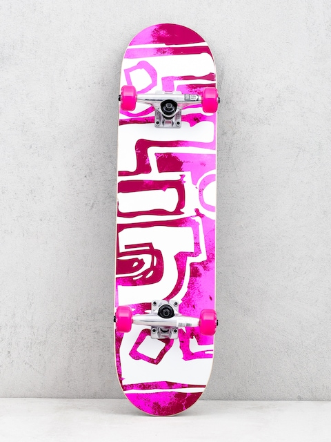 Blind Og Water Color Skateboard (neon pink)