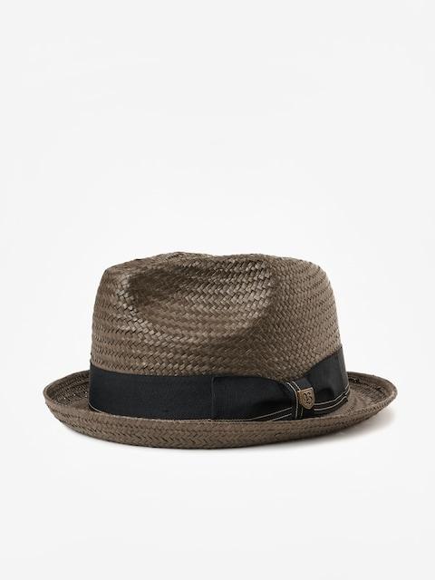 Brixton Castor Fedora Hat (washed black/gold)
