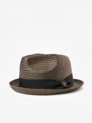 Brixton Castor Fedora Hat (washed black/gold)