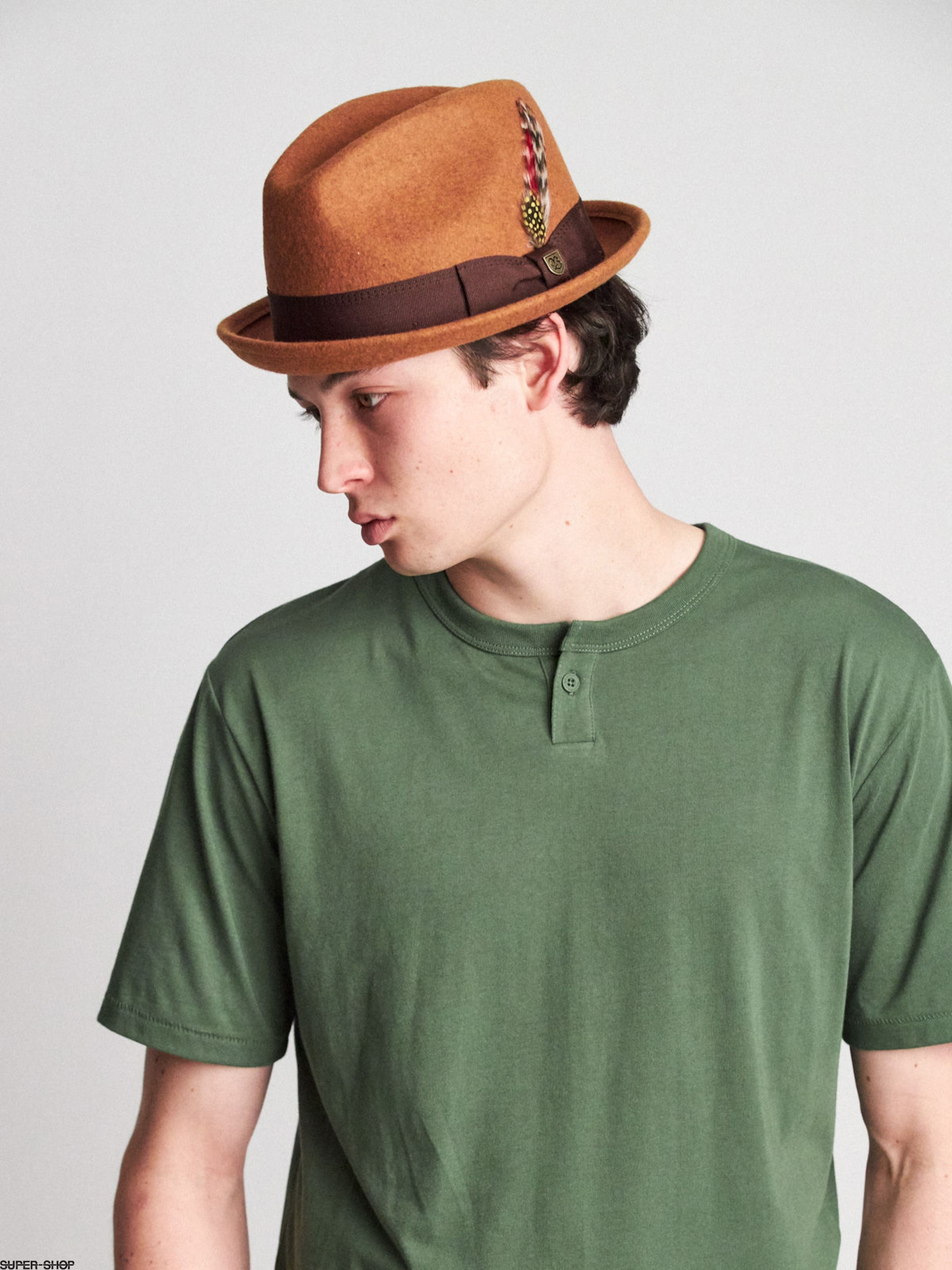 aa9b16f6e Brixton Gain Fedora Hat (heather coffee)