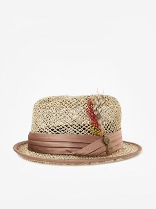 Brixton Stout Straw Pork Pie Hat (tan)