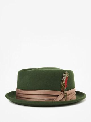 Brixton Stout Pork Pie Hat (moss/bronze)