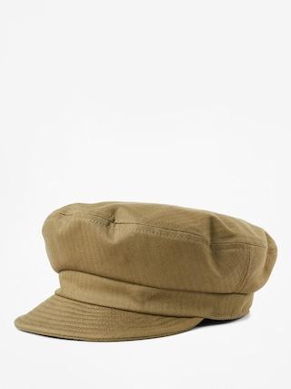 Brixton Fiddler Un ZD Flat cap (washed olive)