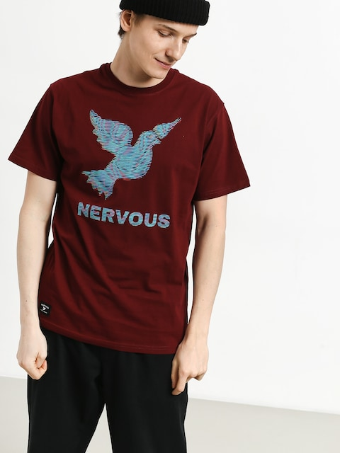 Nervous Lcd T-shirt (maroon)