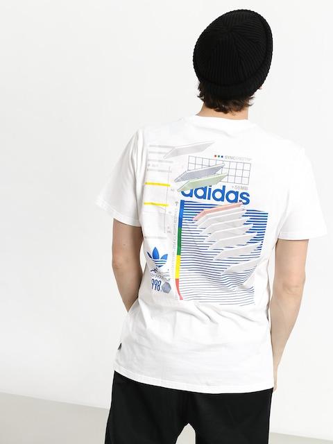 adidas Dodson T-shirt (white/blue/green/rea)