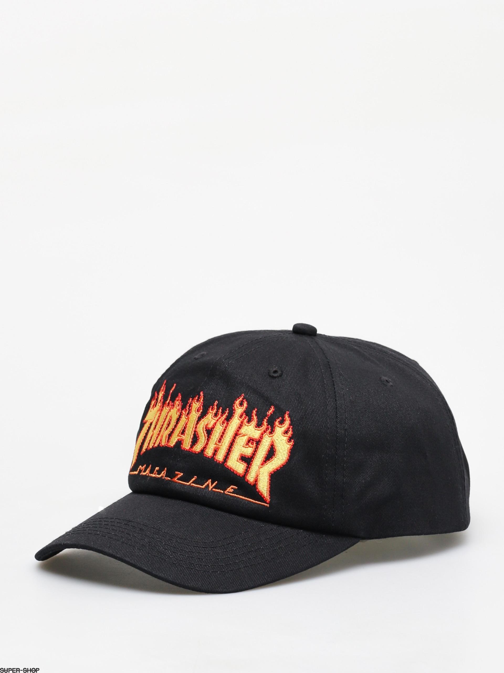 c2c9ecf7a5e ... Pentagram Cross Snapback Mid Profile Mens Independent Hat. THRASHER  snapback trucker hat. 1021215-w1920-thrasher-flame-old-timer-zd-cap-black .jpg