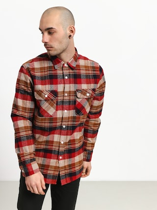 Brixton Bowery Flannel Shirt (red/copper)