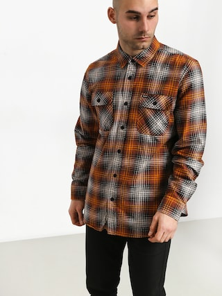 Brixton Bowery Lw Flannel Shirt (burnt orange)