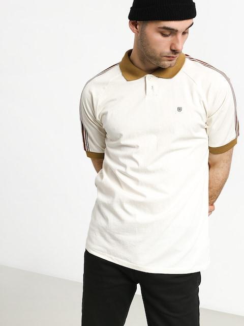 Brixton Este Polo t-shirt (cream/khaki)