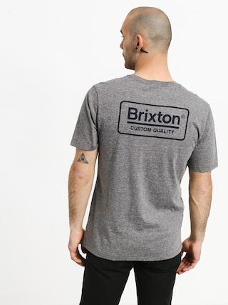 Brixton Palmer Prem T-shirt (heather grey/blue)