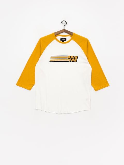 Brixton Chiba 3/4 T-shirt (off white/gold)
