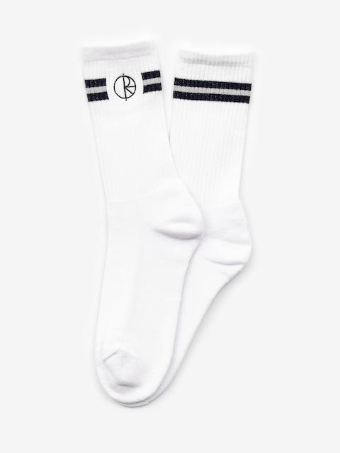 Polar Skate Stroke Logo Socks (white/navy)