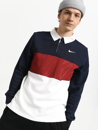 Nike SB Dry Polo t-shirt (obsidian/team crimson/white/white)