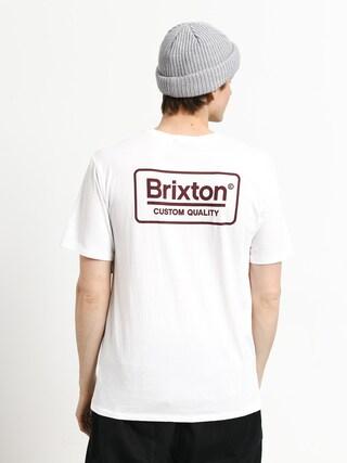 Brixton Palmer Prem T-shirt (white/burgundy)