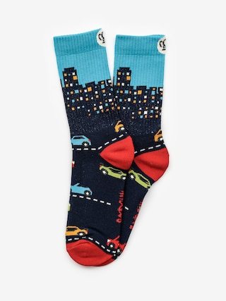 Malita City Socks (navy)