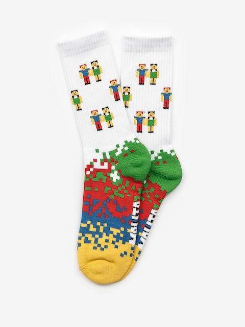Malita Pixel Socks (white)