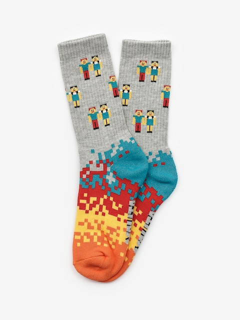 Malita Pixel Socks (heathergrey)