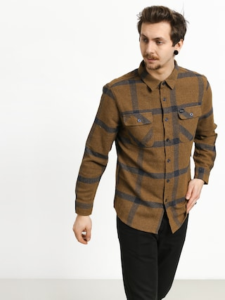 Brixton Bowery Flannel Shirt (gold/navy)