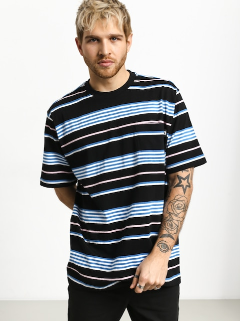 Stussy Thomas Stripe Crew T-shirt (black)