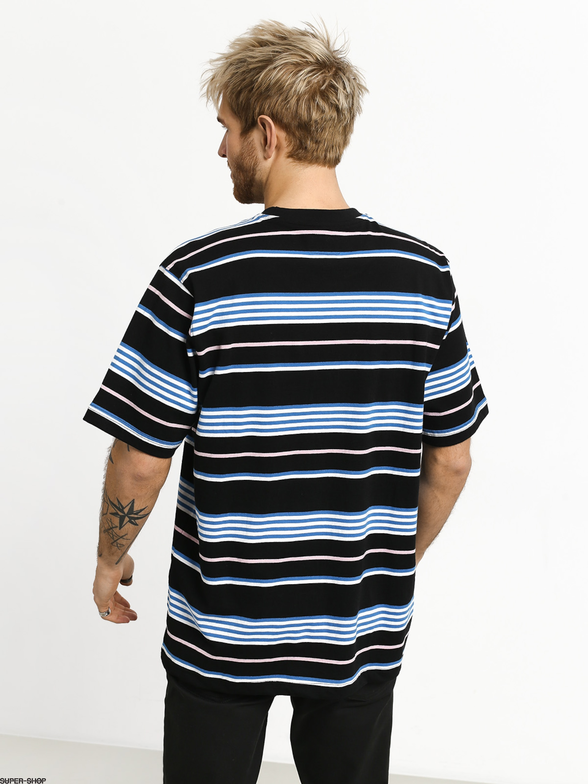 401994b462 Stussy Thomas Stripe Crew T-shirt (black)