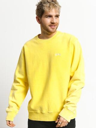 Stussy Stock Logo Crew Sweatshirt (yellow)