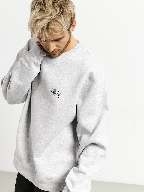 Stussy Basic Crew Sweatshirt (ash heather)