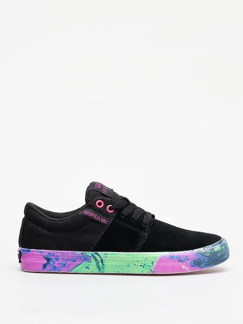 Supra Stacks Vulc II Shoes (black neon acid)