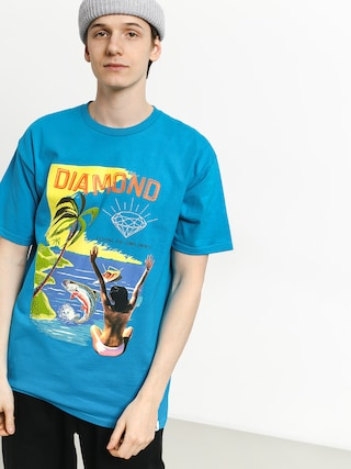 Diamond Supply Co. Fishing For Compliments T-shirt (turquoise)