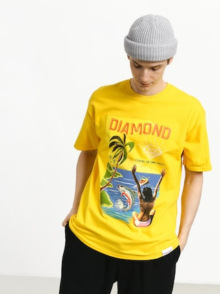 Diamond Supply Co. Fishing For Compliments T-shirt (yellow)