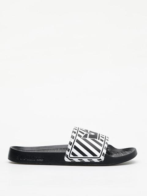 Supra Lockup Flip-flops (black/white stripe)