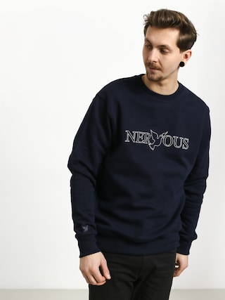 Nervous Classic Sweatshirt (navy/white)